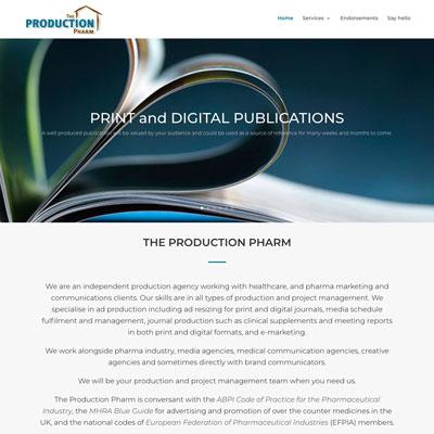 ProductionPharm website